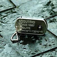 Stainless steel ID dog-tag light (L51 x W29 x H6 mm)